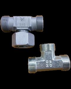 To T-stykker til højtryksrør